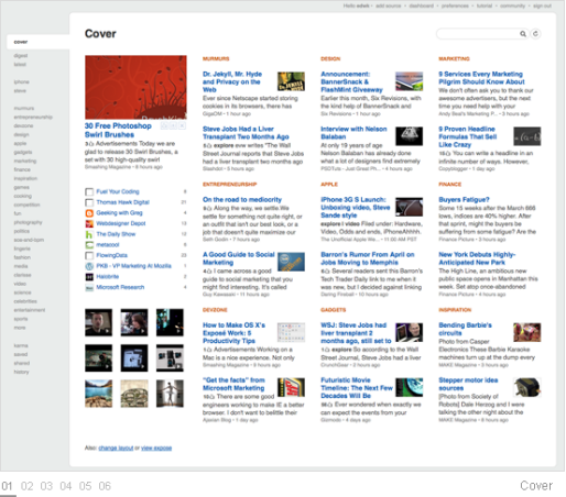 feedly contet curation