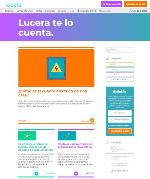 Blog corporativo Lucera